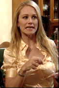 Christine Taylor ... busty, pokies ... from HBO's CURB YOUR ENTHUSIASM (4 non-HD caps)