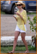 Hilary Swank - In bikini and cowboy hat | Oahu  4.10.11