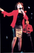 Marie Osmond - Sexy performing in a black leather skirt