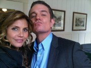 Charisma Carpenter - Twitter Picture - On set of 'Supernatural' with Special Guest 08-30-2011