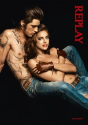 *HQ Adds*Irina Shayk Topless But Covered Replay Jeans Spring/Summer 2012 MQ x 5
