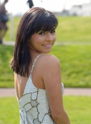 Roxanne Pallett at the Grand National Ladies' Day in Liverpool 13th April x6