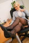 Вера Стивенс, фото 62. Faith Stevens - Grey Suit (OnlyTease), foto 62